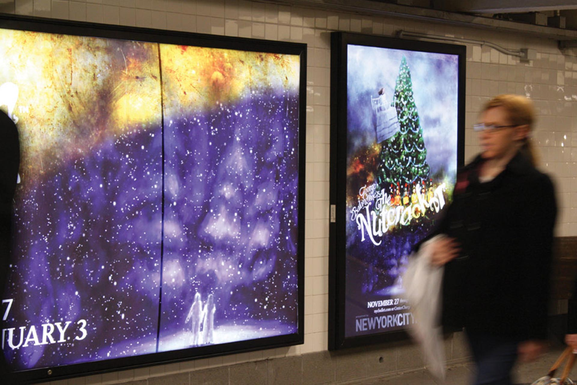 Backlit advertising