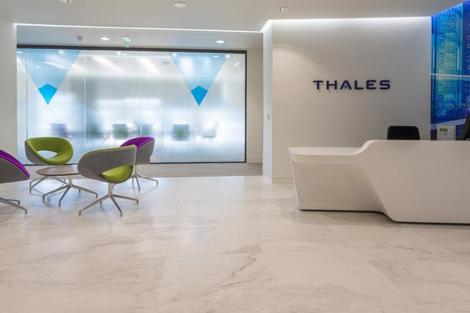 Thales Security LED Light Panel office refurbishment